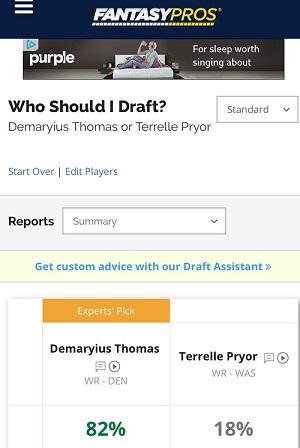 Fantasy Football Trials: Demaryius Thomas v. Terrelle Pryor