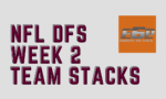 2020 NFL DFS Week 2 Team Stacks